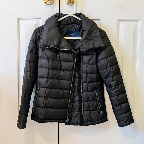 Cole Haan Brand New Moto Style XS Black Puffer